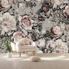 House of Hampton Ammons Peony Blossom Floral Textile Texture Wall Mural Size: Wallpaper Panels, Flower Wallpaper, Wallpaper Roll, Wall Wallpaper, Large Print Wallpaper, Wallpaper Designs, Floral Bedroom, Pink Rose Flower, Ppr