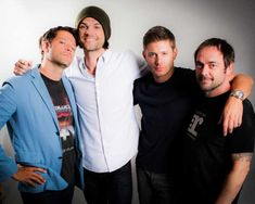 Misha, Jared, Jensen and Mark -- which one is the model? the goof?Sincerist? Most talented?! Yes you're correct.