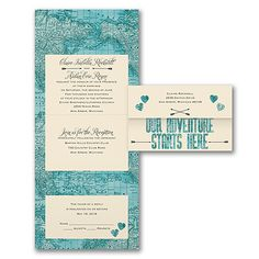 Adventure Starts Here - Seal 'n Send Invitation. Available at Persnickety Invitation Studio.