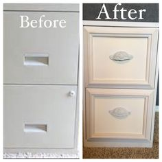 My old file cabinet makeover! A lot of trial and error, but finally it's done