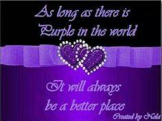 Peace with purple...