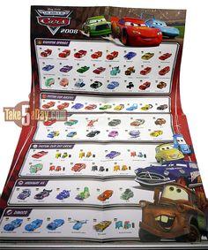 Disney Cars Diecast Complete List | Mattel Disney Pixar Diecast CARS: The Kmart & Opel CARS Posters