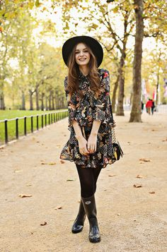 Topshop Autumn Outfit Havaianas Wellies What Olivia Did