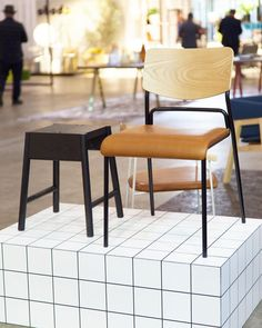Our leather upholstered FIRST chair and stained black AUGUST stool on show at @denfair last month      @mrhillstills #firstchair #apparentt #apparenttdesign #apparenttfurniture #design #designer #designers #furniture #designerfurniture #furnituredesign #diningchair #cafechair #restaurantchair #chair #seating #commercialseating #madeinmelbourne #melbournemade #interior #interiors #interiordesign #localdesign #supportlocal