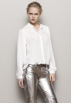 love the silver pants