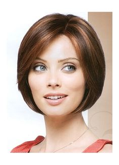 chin length bob side swept bangs - Google Search