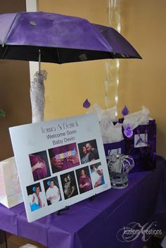 Kustom Kreations Phtography & Celebration Decor: Little Prince Purple Rain Baby Shower
