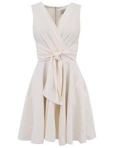Closet - Krémové šaty se zavazováním v pase - 1 Wrap Dress, How To Wear, Wedding, Book Covers, Dresses, Fashion, Dress, Valentines Day Weddings, Vestidos
