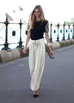23 Palazzo Pants- New Trend - ummm yes!  I would love a step away from skinny jeans at least until I can get these final baby lbs off!!
