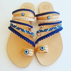 Check out this item in my Etsy shop https://www.etsy.com/listing/522268984/blue-boho-sandals