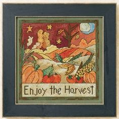 Mill Hill Enjoy The Harvest - Beaded Cross Stitch Kit. Enjoy the Harvest. Perforated Paper or Painted Perforated Pap Beaded Cross Stitch, Counted Cross Stitch Kits, Cross Stitch Embroidery, Embroidery Patterns, Stitching On Paper, Quilt Stitching, Cross Stitching, Cross Stitch Designs, Cross Stitch Patterns