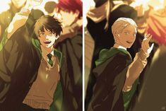This is an AU of Drarry because I said so Albus Severus Potter, Draco Harry Potter, Harry Potter Anime, Hery Potter, Scorpius And Albus, Harry Potter Cursed Child, Arte Do Harry Potter, Harry Potter Ships, Harry Potter Universal