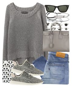 """""""Untitled #3262"""" by hellomissapple on Polyvore featuring rag & bone/JEAN, Topshop, Levi's Made & Crafted, Yves Saint Laurent, adidas, Cartier, Michael Kors, Links of London, Jules Smith and Ray-Ban"""