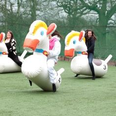Inflatable Action Games Hen Party | Clear Cut Weekends