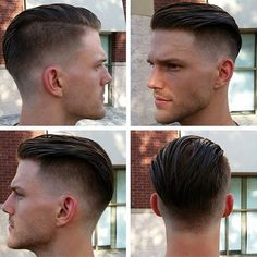 Men's Toupee Human Hair Hairpieces for Men inch Thin Skin Hair Replacement System Monofilament Net Base ( Hair And Beard Styles, Short Hair Styles, Pelo Popular, Mens Toupee, Style Masculin, Fade Haircut, Haircuts For Men, Modern Haircuts, Short Haircuts