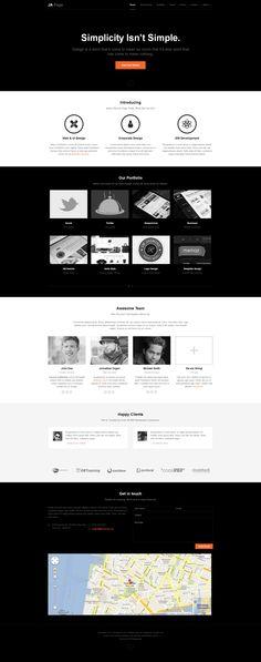 Joomla template - Onepage