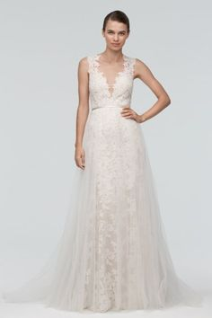 Try on at Formal and Bridal Inc. Watters Brides Carlton Skirt Overlay