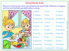 Vocabulario: los alimentos Spanish Classroom, Teaching Spanish, Character, Spanish, Amor, Home, Eating Well, Eat Healthy, Kinder Surprise