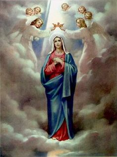 The Fifth Glorious Mystery. The Coronation of our Blessed Mother in Heaven...