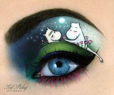 Tal Peleg's Eye Makeup Art  - Moomins!