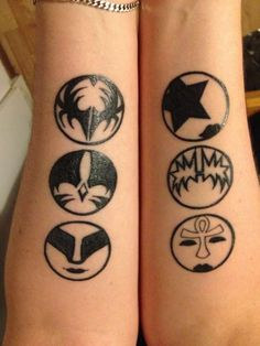 kiss rock band tattoos - Google Search