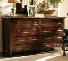 Fabulous Pottery Barn Wide Dresser With 8 Drawers