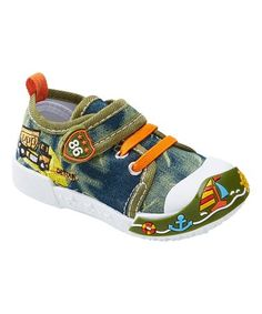 Green Sailboat Sneaker - Kids #zulily #zulilyfinds