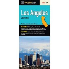 Universal Map Los Angeles California Fold Map (Set of 2)