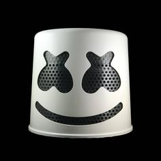 Marshmello Helmet White with black interchangeable color masks. We now have a Pink Helmet as well. For all DJ Marshmello fans, we have created with great love and care the. Dj Marshmello Costume, Marshmello Head, Marshmello Helmet, Pink Helmet, Latex, Cosplay Helmet, Custom Helmets, Air Brush Painting, Hand Molding