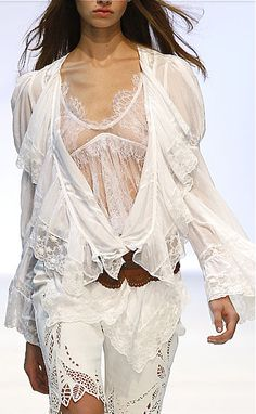 I would wear the see through top with a higher cotton count underneath-- To rest the exposed breasts.