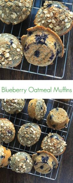 Blueberry Oatmeal Muffins - Protein-rich muffins made with whole grain - The Lemon Bowl