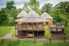 Mill Farm, Wiltshire. Dream under stars in a luxury six person treehouse - available to book all year round https://www.millfarmglamping.co.uk/king-arthurs-willow/
