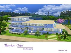The Sims Resource: Millennium Gym by Morgana14 • Sims 4 Downloads