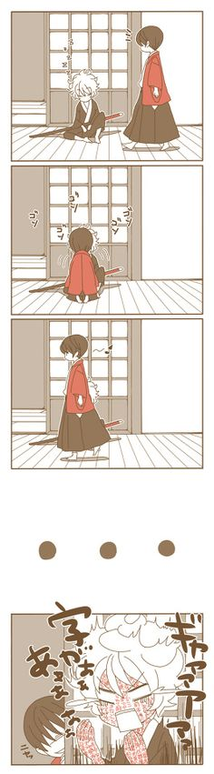 Gintama , Takasugi and Gintoki