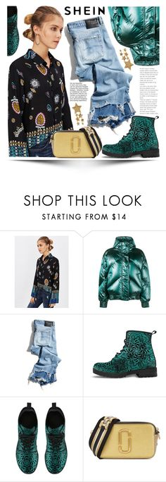 """Shein"" by ewa-naukowicz-wojcik ❤ liked on Polyvore featuring Ienki Ienki, R13 and Marc Jacobs"