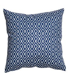 Check this out! Cushion cover in woven cotton fabric with a printed pattern. Concealed zip. - Visit hm.com to see more.