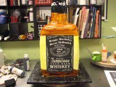 Cake Decorating : 3D Bottle Cake - YouTube