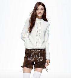 Oktoberfest Lederhose für Damen.  #lederhose