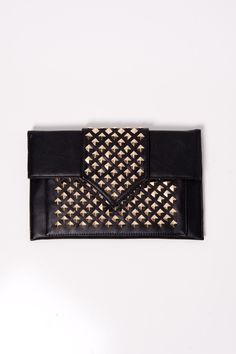 Black Studded Clutch #swoonboutique