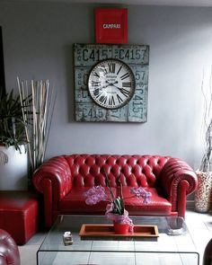 Interior decoration from a restaurant in Rome  #rome #roma #italy #homedecor #homedecoraction #cafe #cafedecor #redsofa