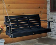 Highwood Weatherly Porch Swing in Black