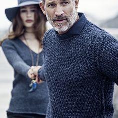 #AlphaStudio Alpaca wool double rice stitch pullover  #fw2014 #alpaca #wool #ricestitch #knitwear #knit #pull #menswear #menstyle #mensfashion #style #stylish #fashion #puntomaglia