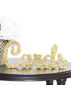 "Glitter ""cards"" sign from zulily."