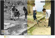 50 anos - Museu Monográfico de Conímbriga   Colorização: Escavações na Via