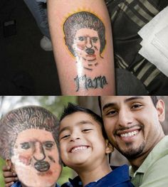 reallife tats 1 Terrible tattoos brought to life (22 Photos)