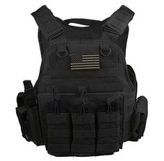 """AR500 Level III 10""""x12"""" Curved Steel Plates With Rothco TAC Carrier & All Molle"""