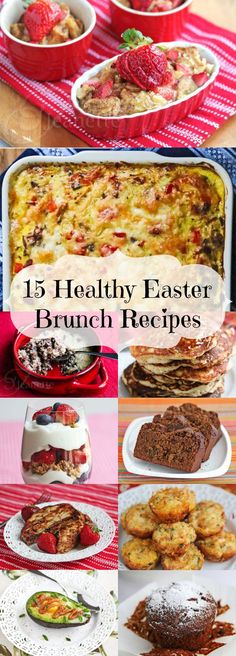 15 Healthy Easter Brunch Recipes from Jeanette's Healthy Living Easter Dinner, Easter Brunch, Easter Food, Easter Recipes, Holiday Recipes, Easter Ideas, Recipes Dinner, Holiday Foods, Easter Crafts