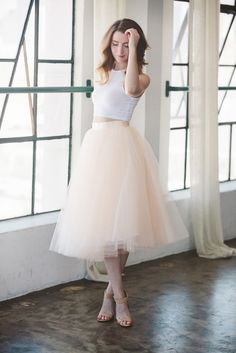 Blush Tulle Skirt.