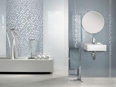 lineares Bad-Design Vorschläge-italienische Mosaikfliesen von Ceramiche Supergres