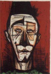 Portrait; The Clown. Artist; Bernard Buffet (1928 to '99). Medium; Pastel  Copywrite ©